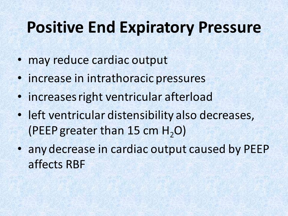 Positive End Expiratory Pressure