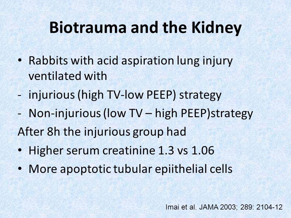 Biotrauma and the Kidney