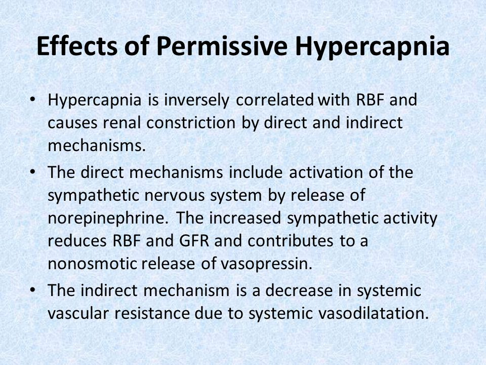 Effects of Permissive Hypercapnia