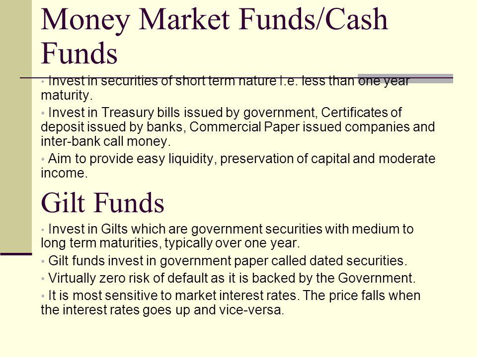 Money Market Funds/Cash Funds