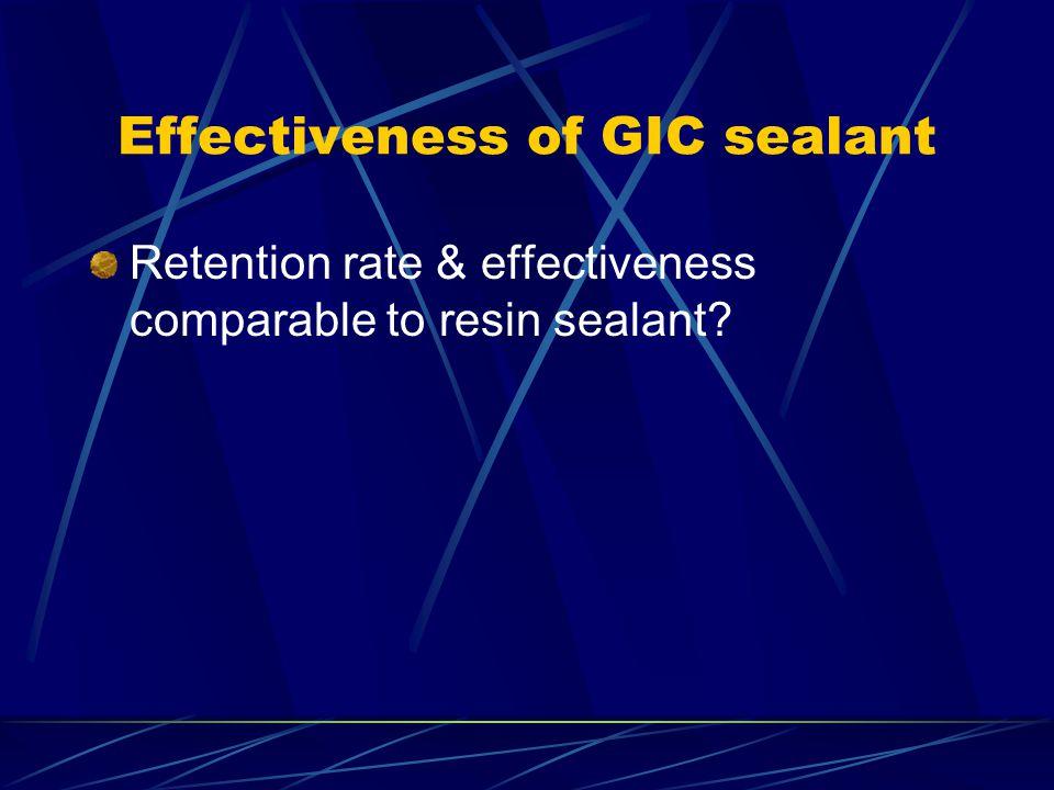 Effectiveness of GIC sealant