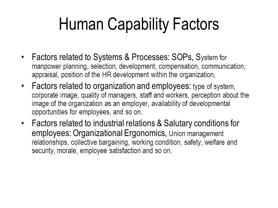 Human Capability Factors