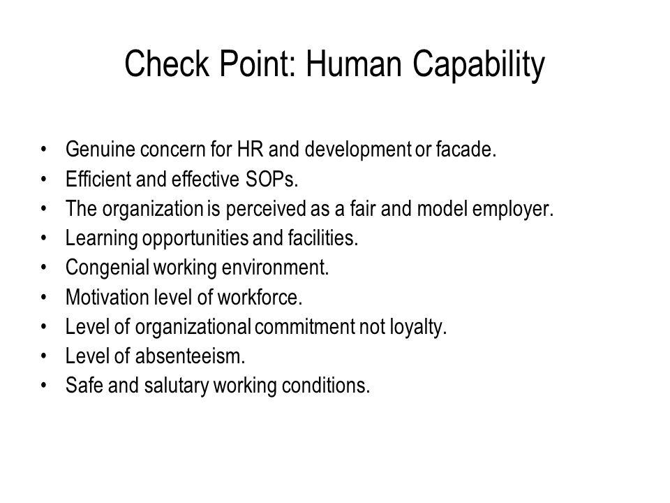 Check Point: Human Capability