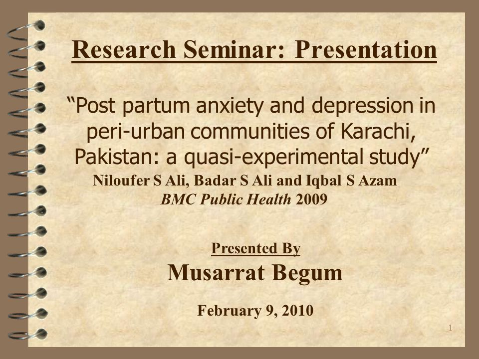 Research Seminar: Presentation