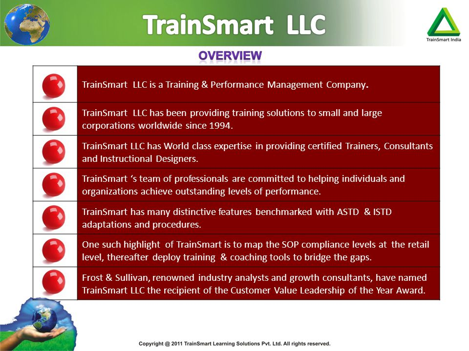 TrainSmart LLC Overview