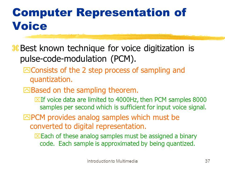 Computer Representation of Voice