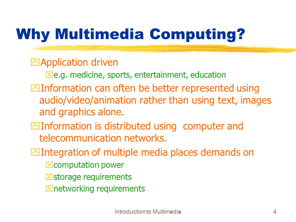 Why Multimedia Computing