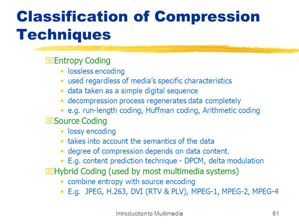 Classification of Compression Techniques