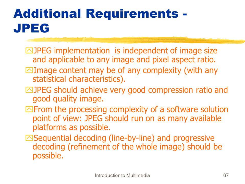 Additional Requirements -JPEG