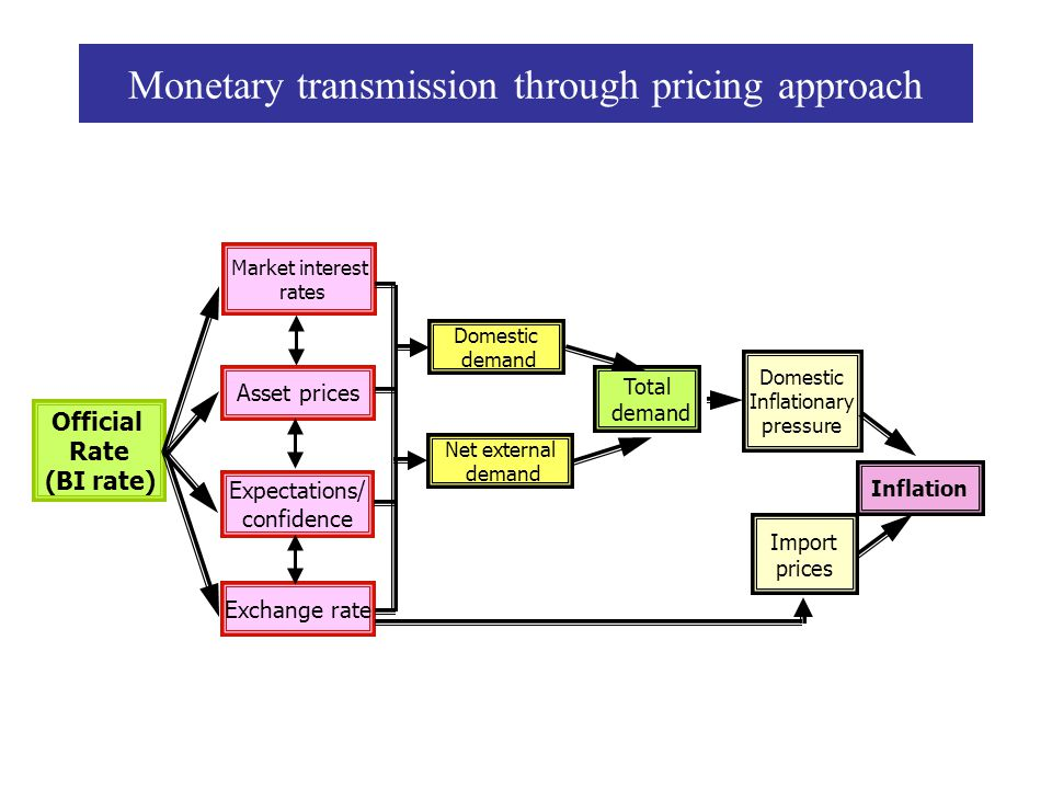 Monetary transmission through pricing approach