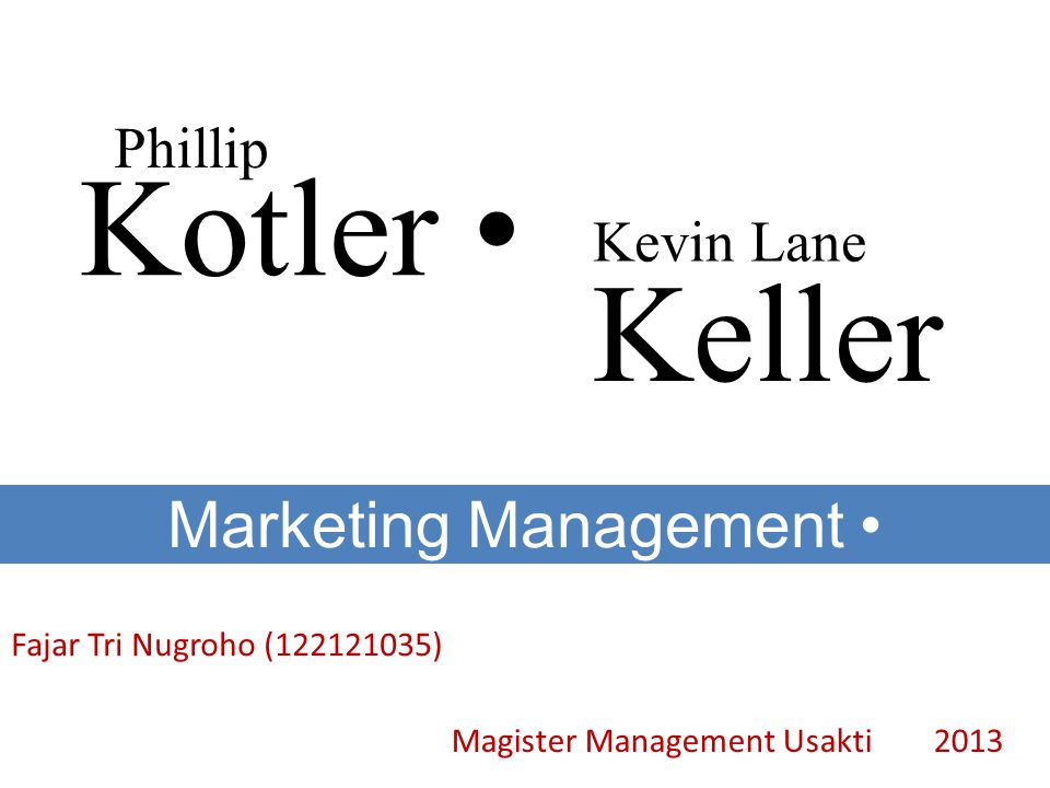 Marketing Management •