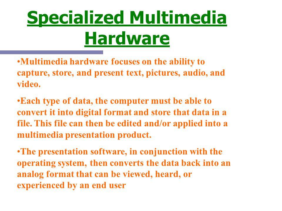Specialized Multimedia Hardware