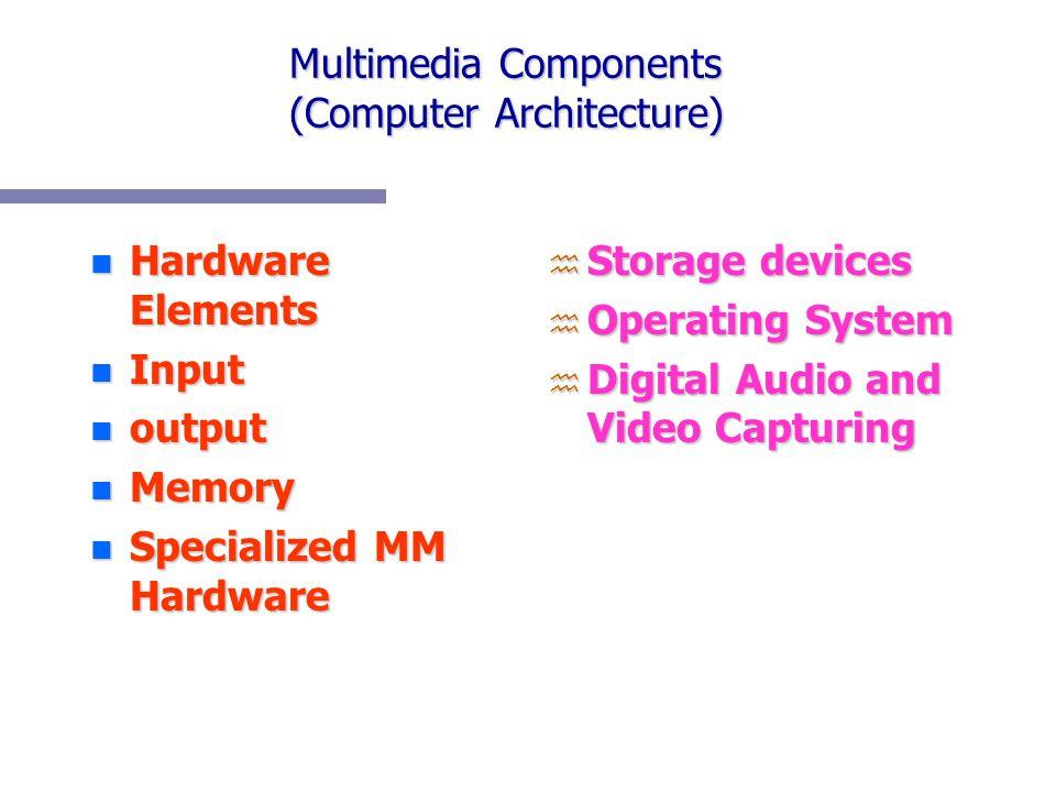 Multimedia Components (Computer Architecture)