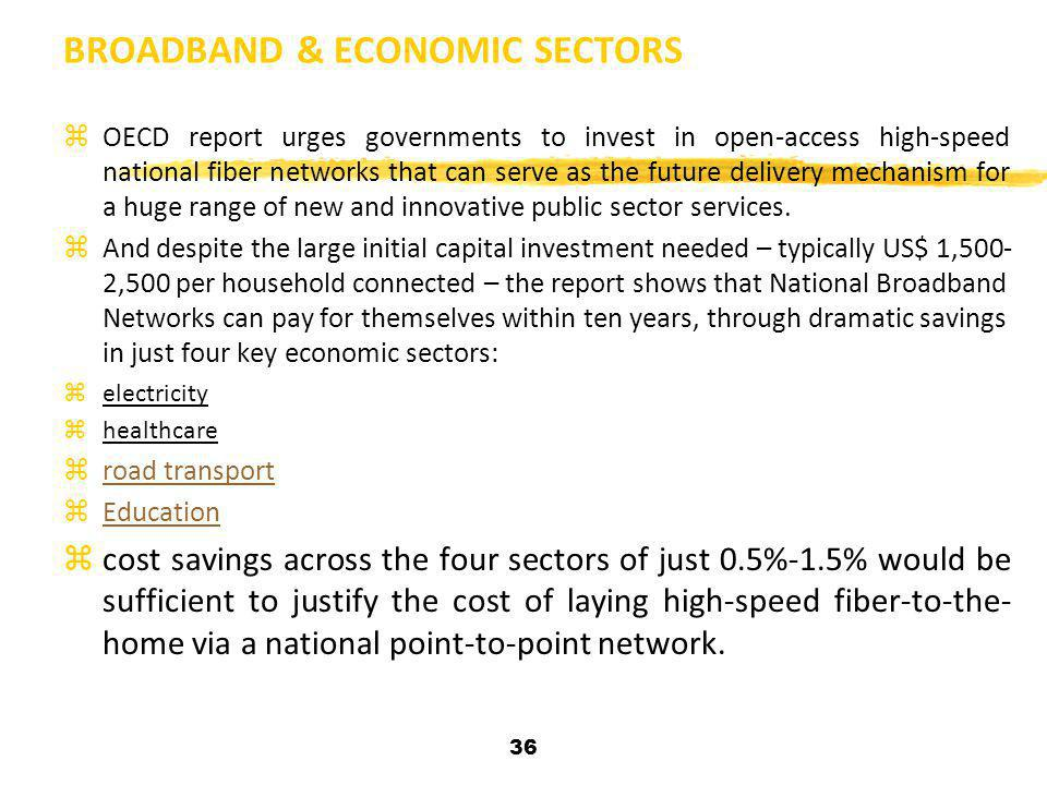 BROADBAND & ECONOMIC SECTORS