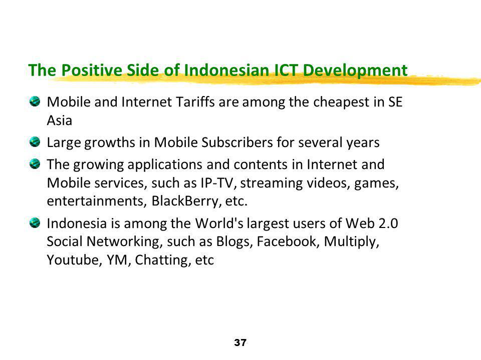 The Positive Side of Indonesian ICT Development