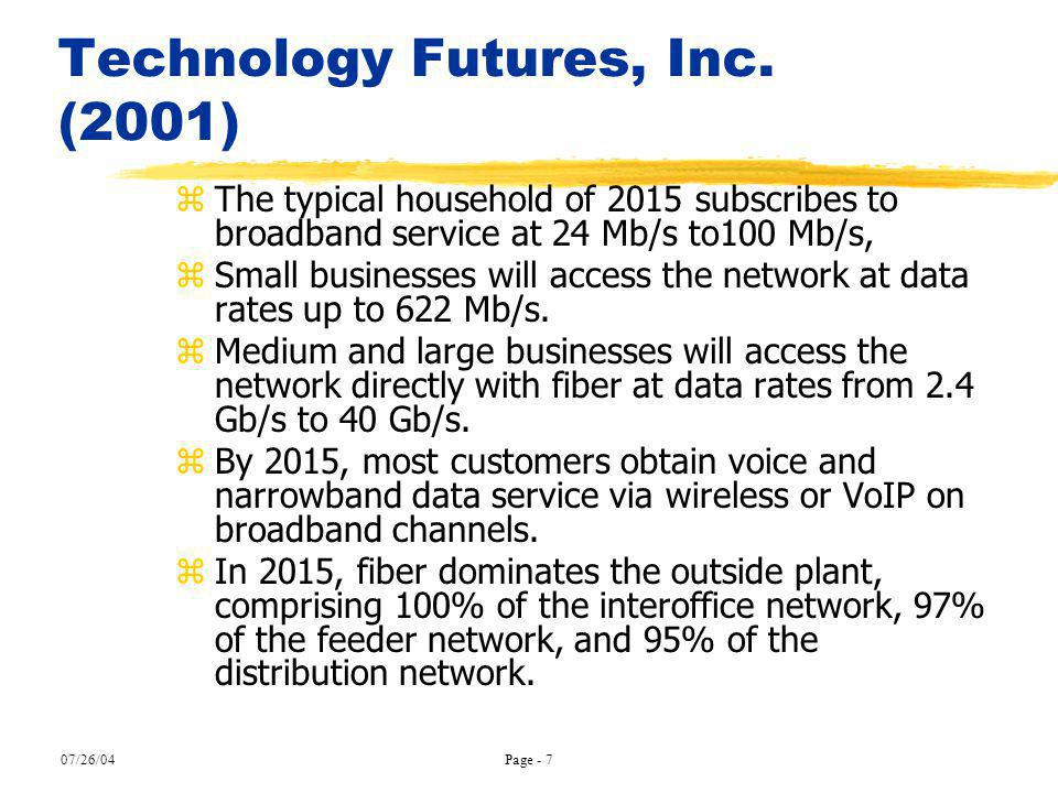 Technology Futures, Inc. (2001)