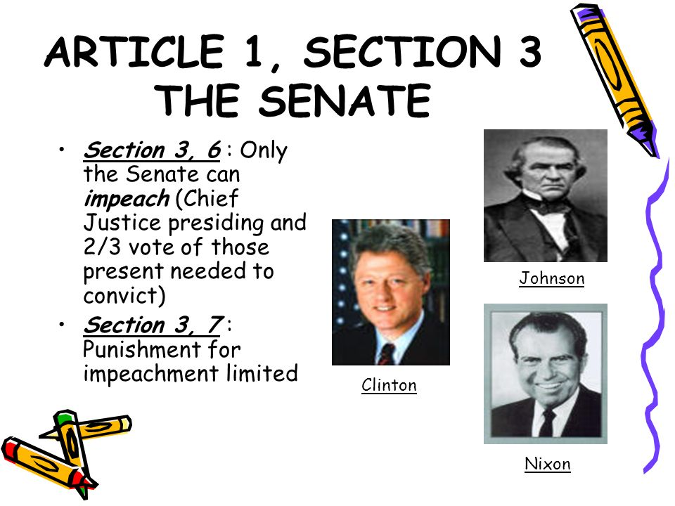 ARTICLE 1, SECTION 3 THE SENATE