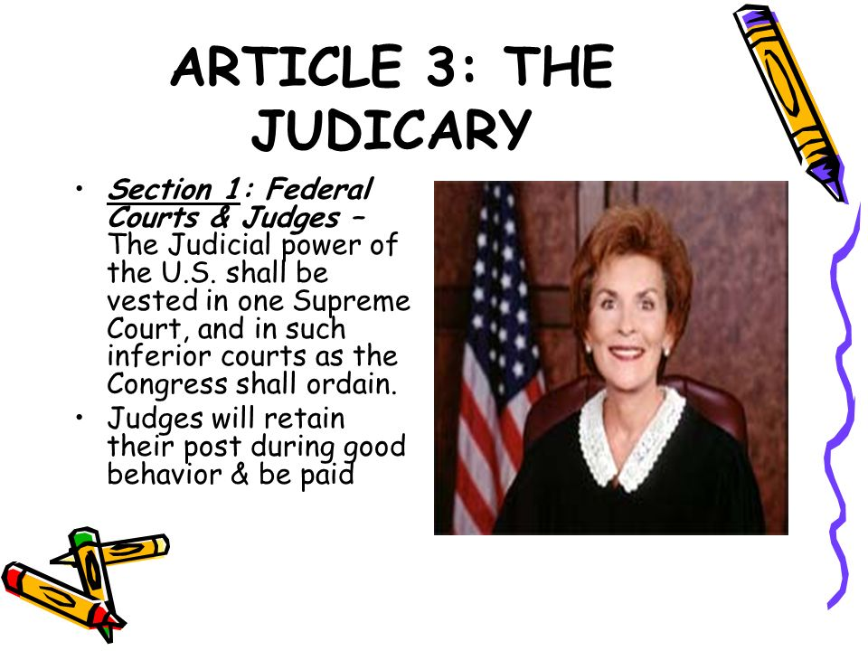 ARTICLE 3: THE JUDICARY