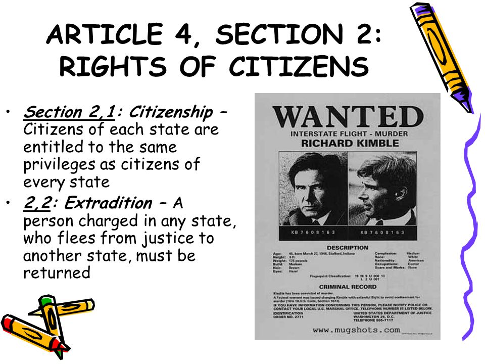 ARTICLE 4, SECTION 2: RIGHTS OF CITIZENS