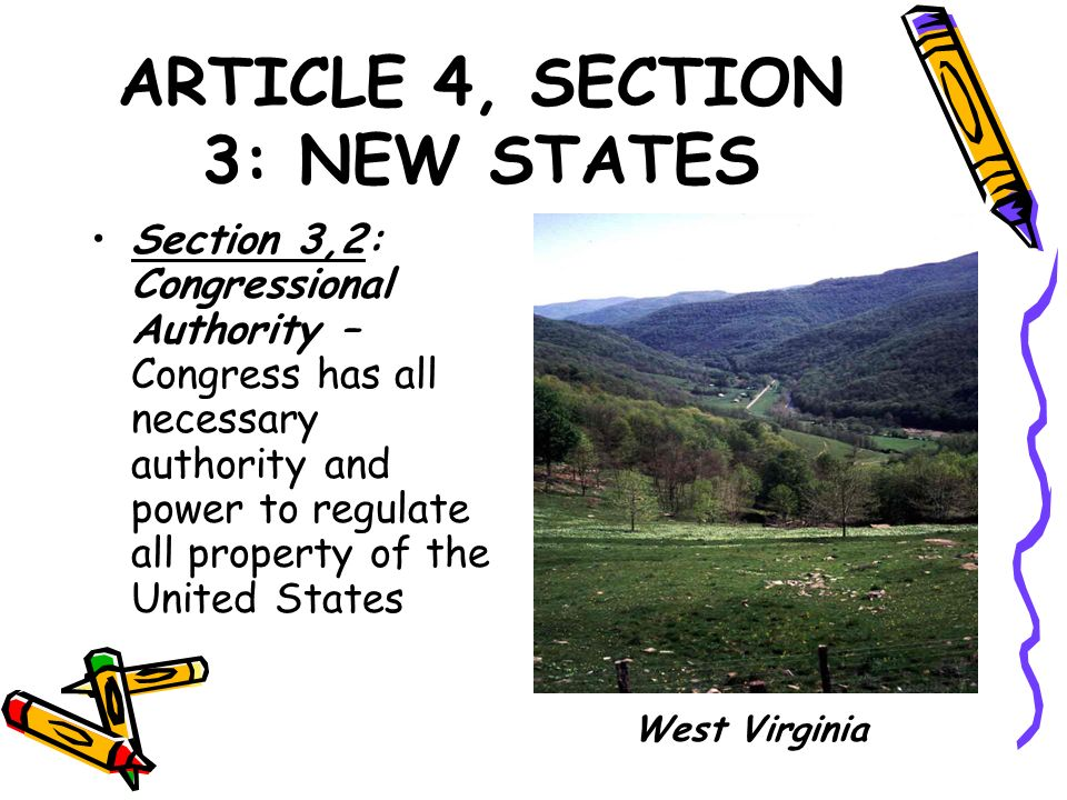 ARTICLE 4, SECTION 3: NEW STATES