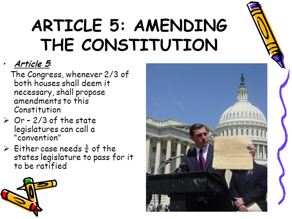 ARTICLE 5: AMENDING THE CONSTITUTION