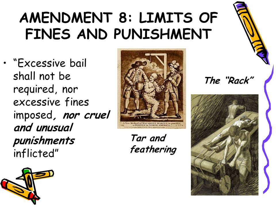 AMENDMENT 8: LIMITS OF FINES AND PUNISHMENT
