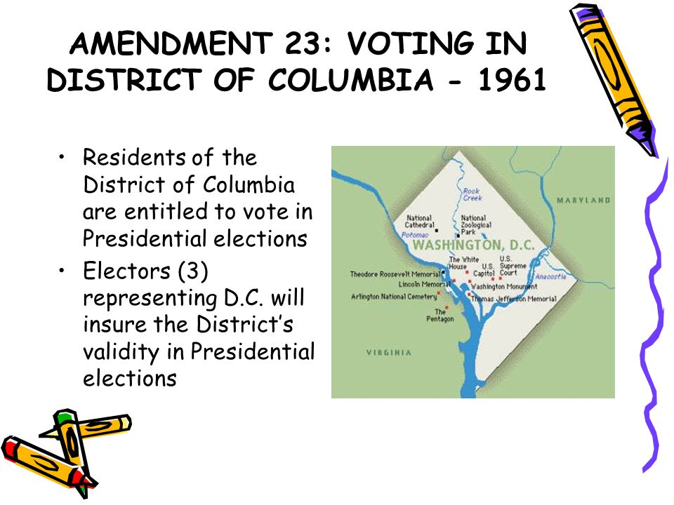 AMENDMENT 23: VOTING IN DISTRICT OF COLUMBIA - 1961