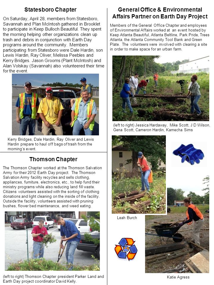 General Office & Environmental Affairs Partner on Earth Day Project