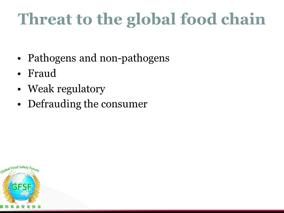 Threat to the global food chain