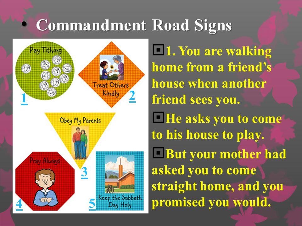 Commandment Road Signs