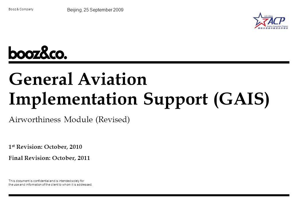 General Aviation Implementation Support (GAIS)
