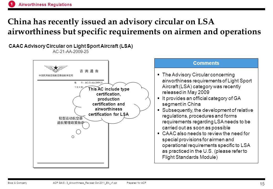 CAAC Advisory Circular on Light Sport Aircraft (LSA)