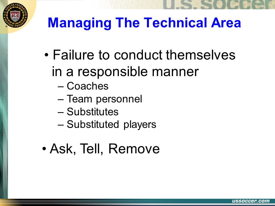 Managing The Technical Area