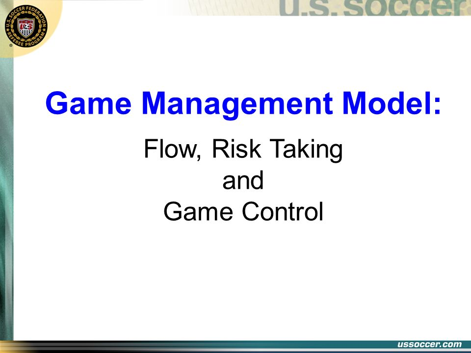Game Management Model: Flow, Risk Taking and Game Control