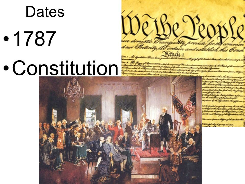 Dates 1787 Constitution