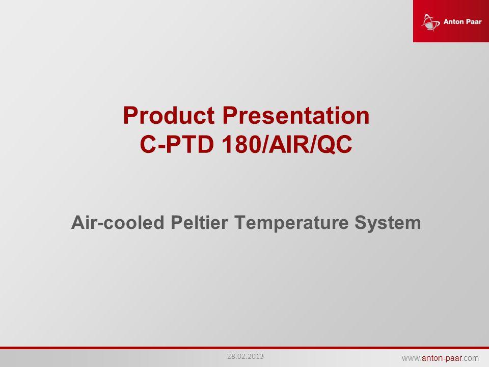 Product Presentation C-PTD 180/AIR/QC