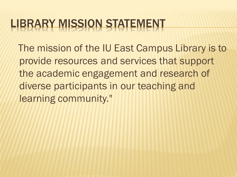 Library Mission Statement