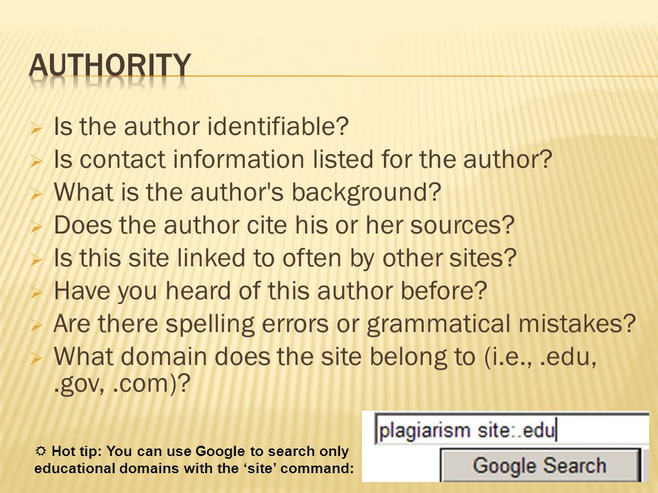 Authority Is the author identifiable