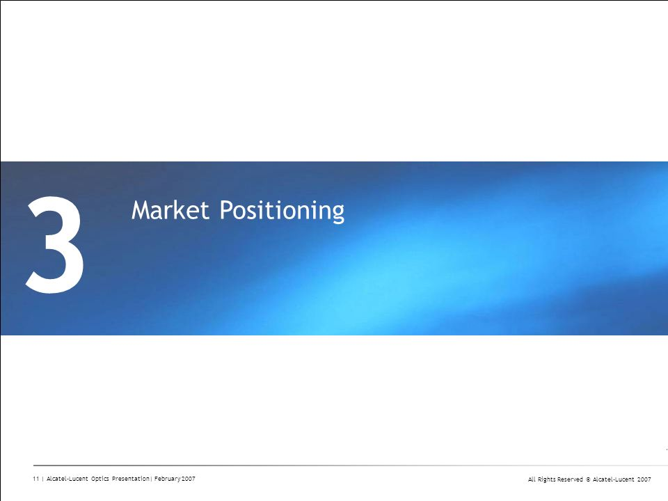 3 Market Positioning Divider Section Break Pages