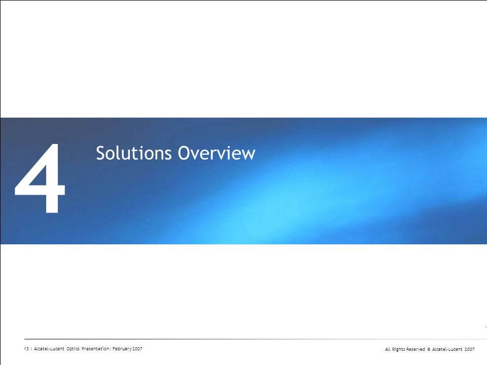4 Solutions Overview Divider Section Break Pages