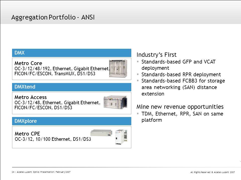 Aggregation Portfolio - ANSI