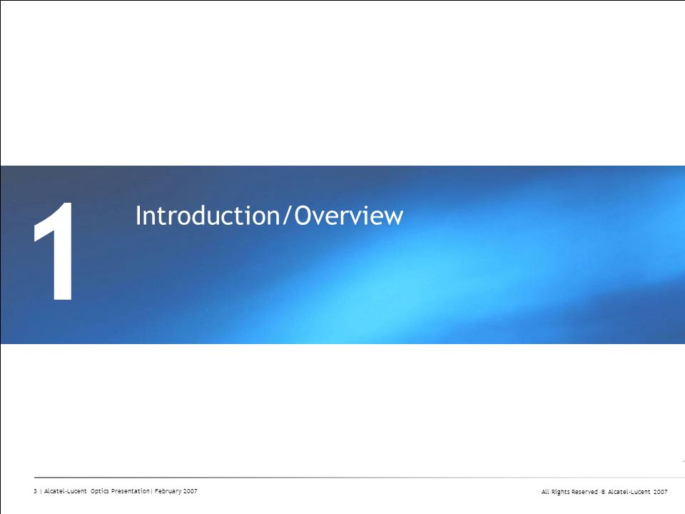 1 Introduction/Overview Divider Section Break Pages