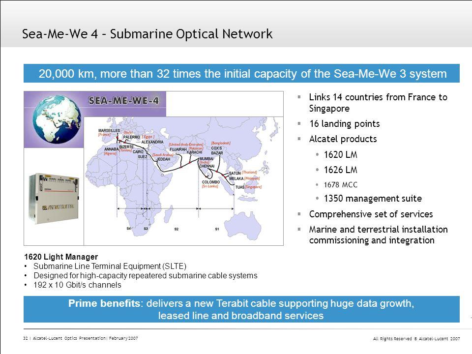 Sea-Me-We 4 – Submarine Optical Network