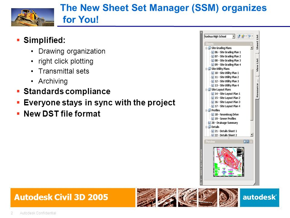 The New Sheet Set Manager (SSM) organizes for You!
