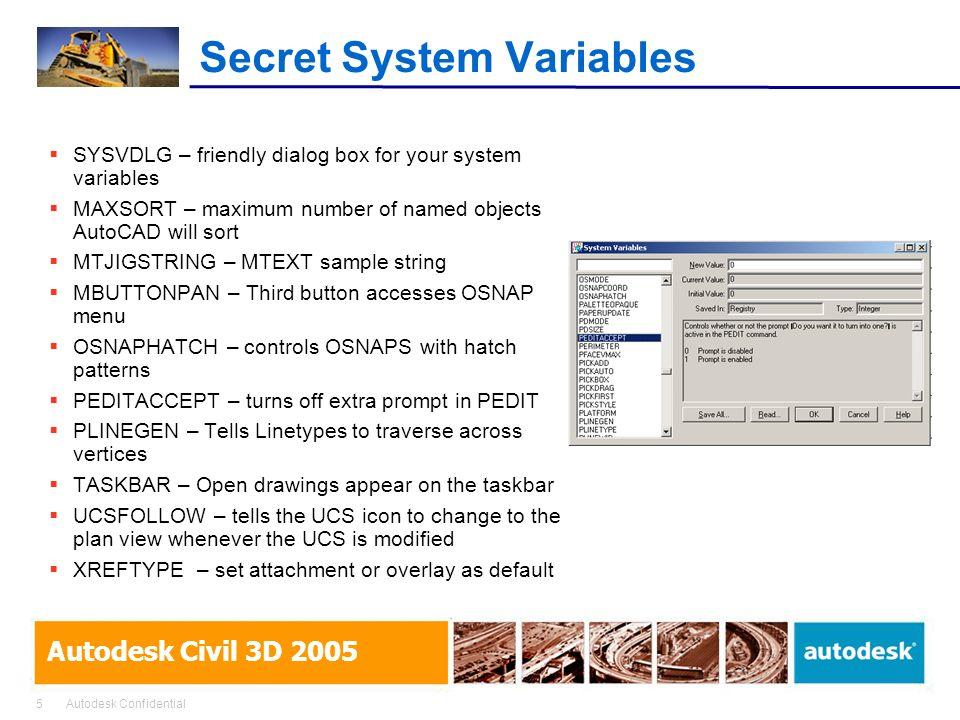 Secret System Variables