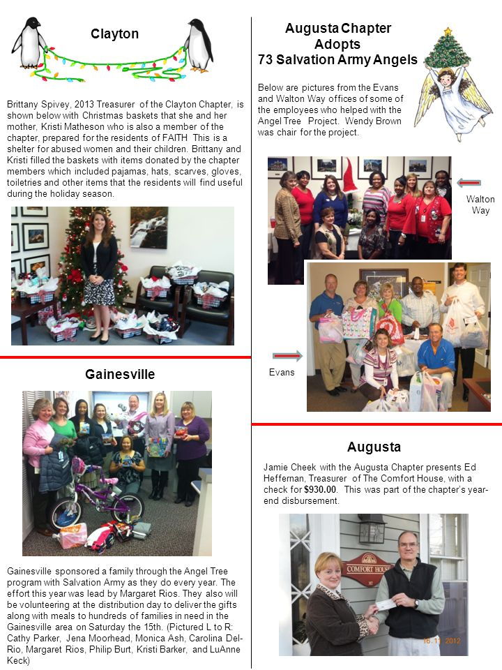 Augusta Chapter Adopts 73 Salvation Army Angels