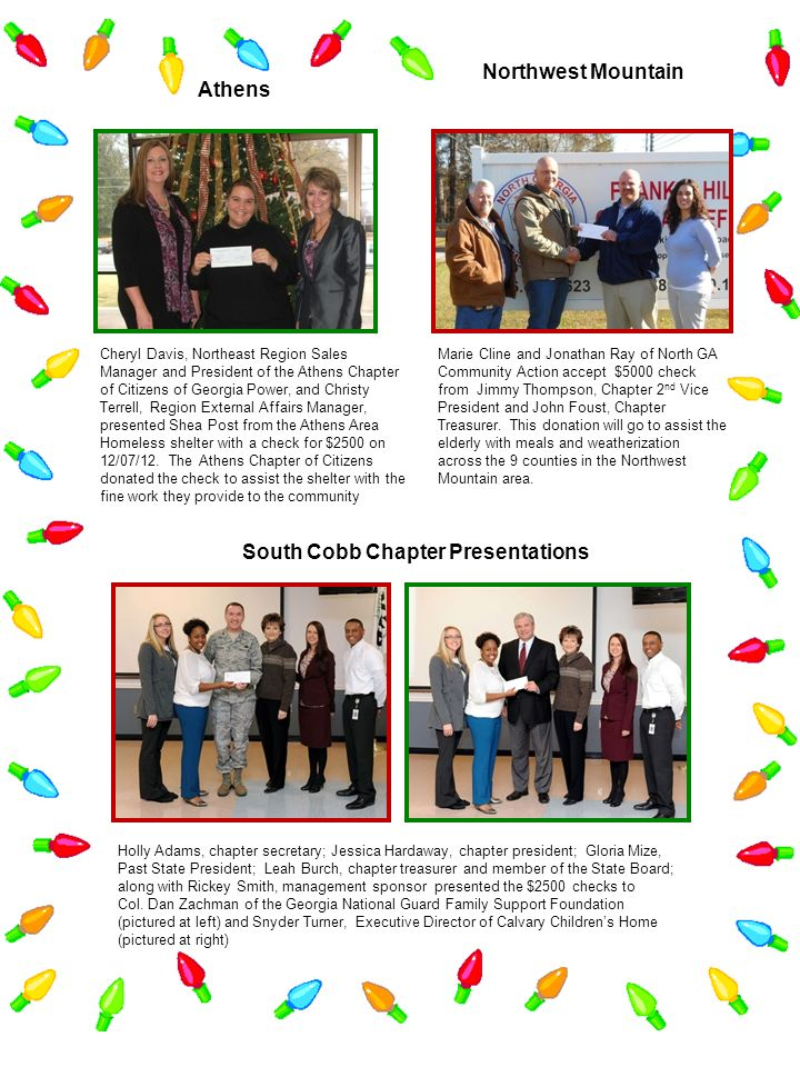 South Cobb Chapter Presentations