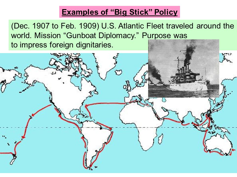Examples of Big Stick Policy