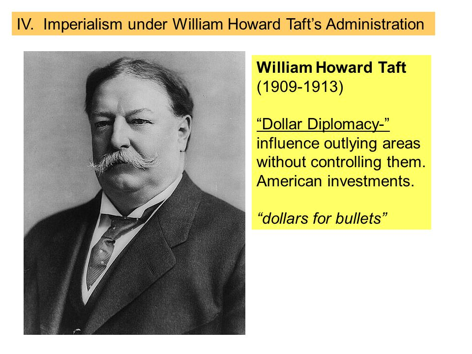 IV. Imperialism under William Howard Taft's Administration
