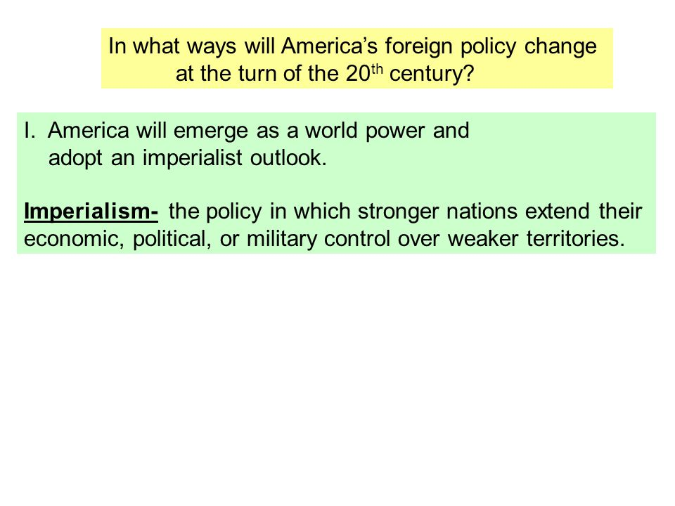 In what ways will America's foreign policy change